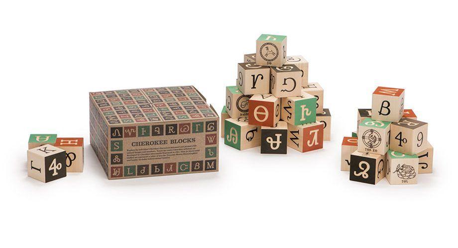 Cherokee Blocks Letter A Crafts French Alphabet Wooden Abc Blocks