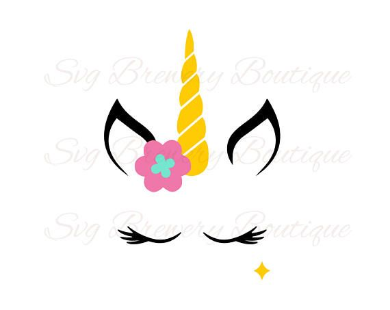 Unicorn Horn Svg Layered Png Dxf Pdf For Cricut
