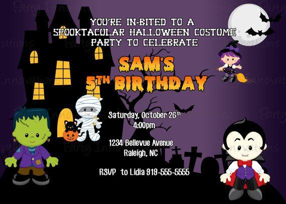 Printable Halloween Birthday Invitation Plus Free Blank Matching