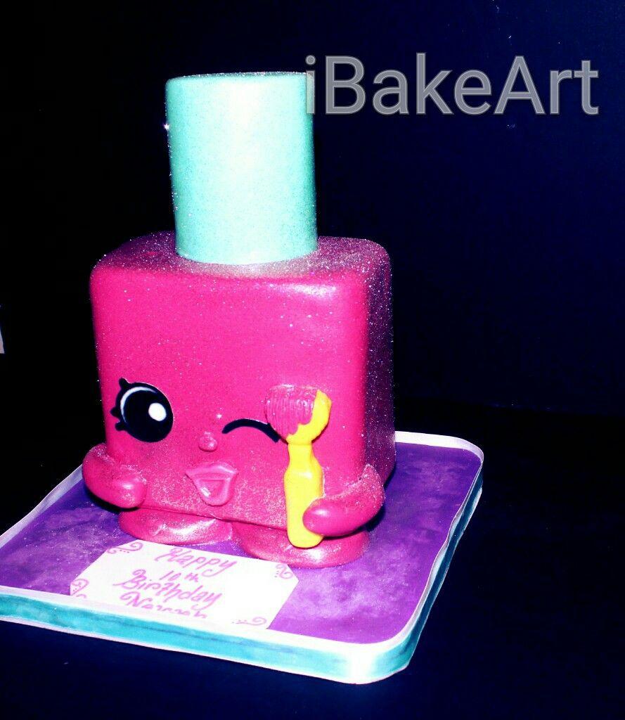 Finger Nail Polish Cakes: Nail Polish Shopkins Cake