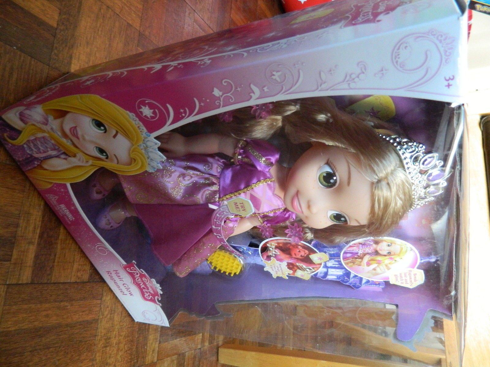 New In Box Disney Princess Hair Glow Rapunzel Doll Ebay