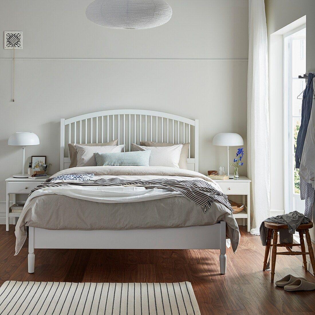 Tyssedal Bed Frame White Full Ikea In 2020 Adjustable Beds Bed Frame Bed Slats