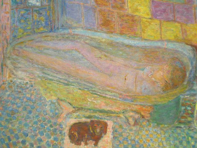 nude in bath Bonnard the