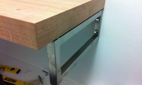 Waschtischkonsole Alternative, Selber machen, Waschtisch aus Holz - badezimmer selber bauen