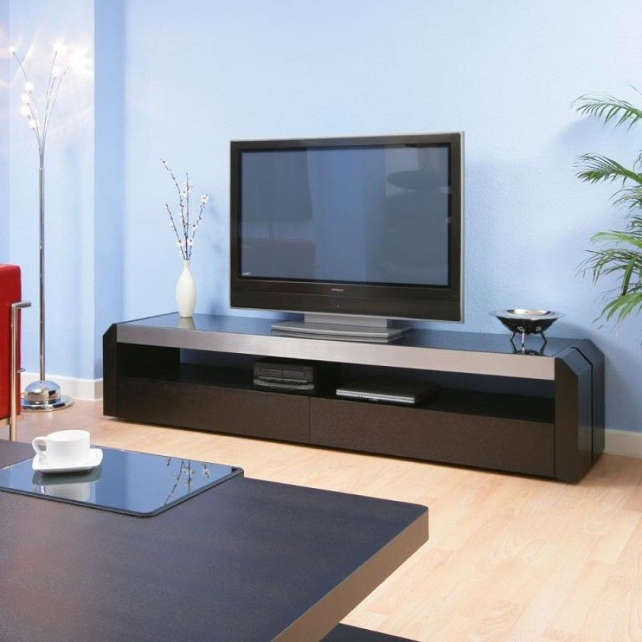 Television Cabinet/entertainment Unit Black Glass Top 701F. Features  Include Beautiful Design, 2