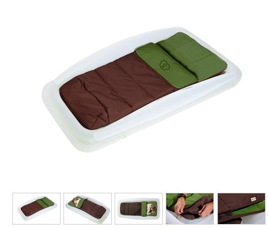 Shrunks Outdoor Toddler Bed Sleeping Bag Air Mattress Foot Pump The Travel S Compact Design Fits Easily In Camping Tents