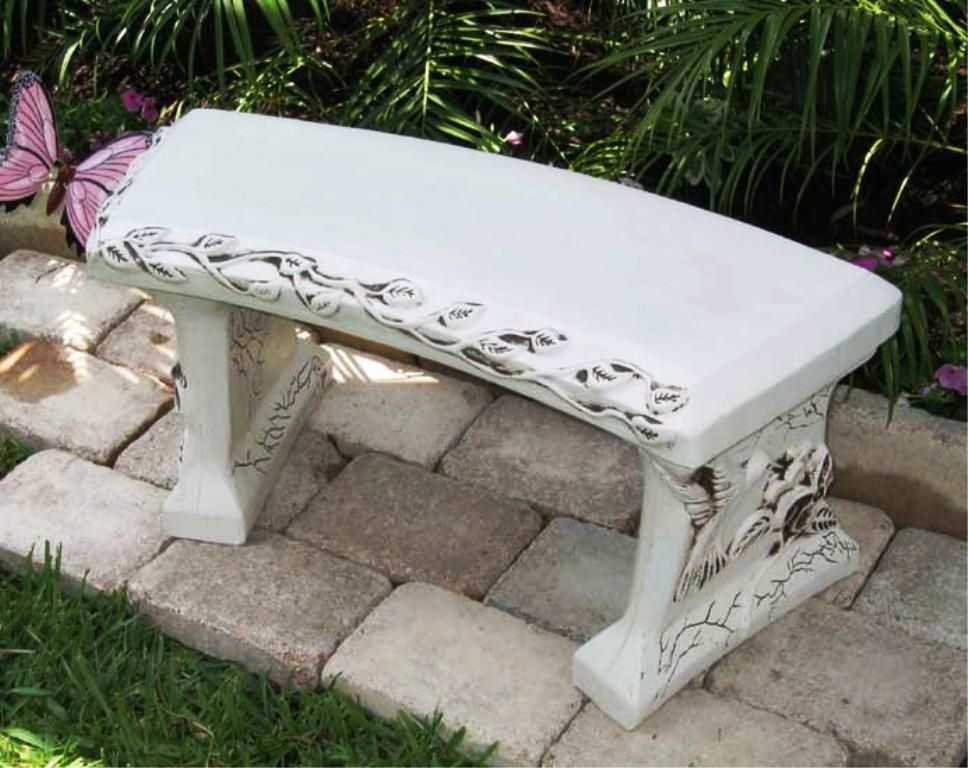 Concrete Benches Lowes Concrete Garden Bench Concrete Garden