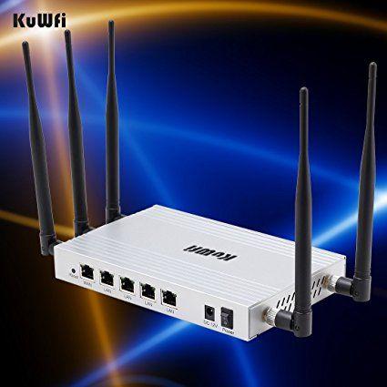 kuwfi 300Mbps alto guadagno 802.11N router senza fili con 5* 5dBi antenna a lunga portata getway/wifirepeater/AP sostegno modalità lavoro diversi ssid (potere dell' UE Presa)