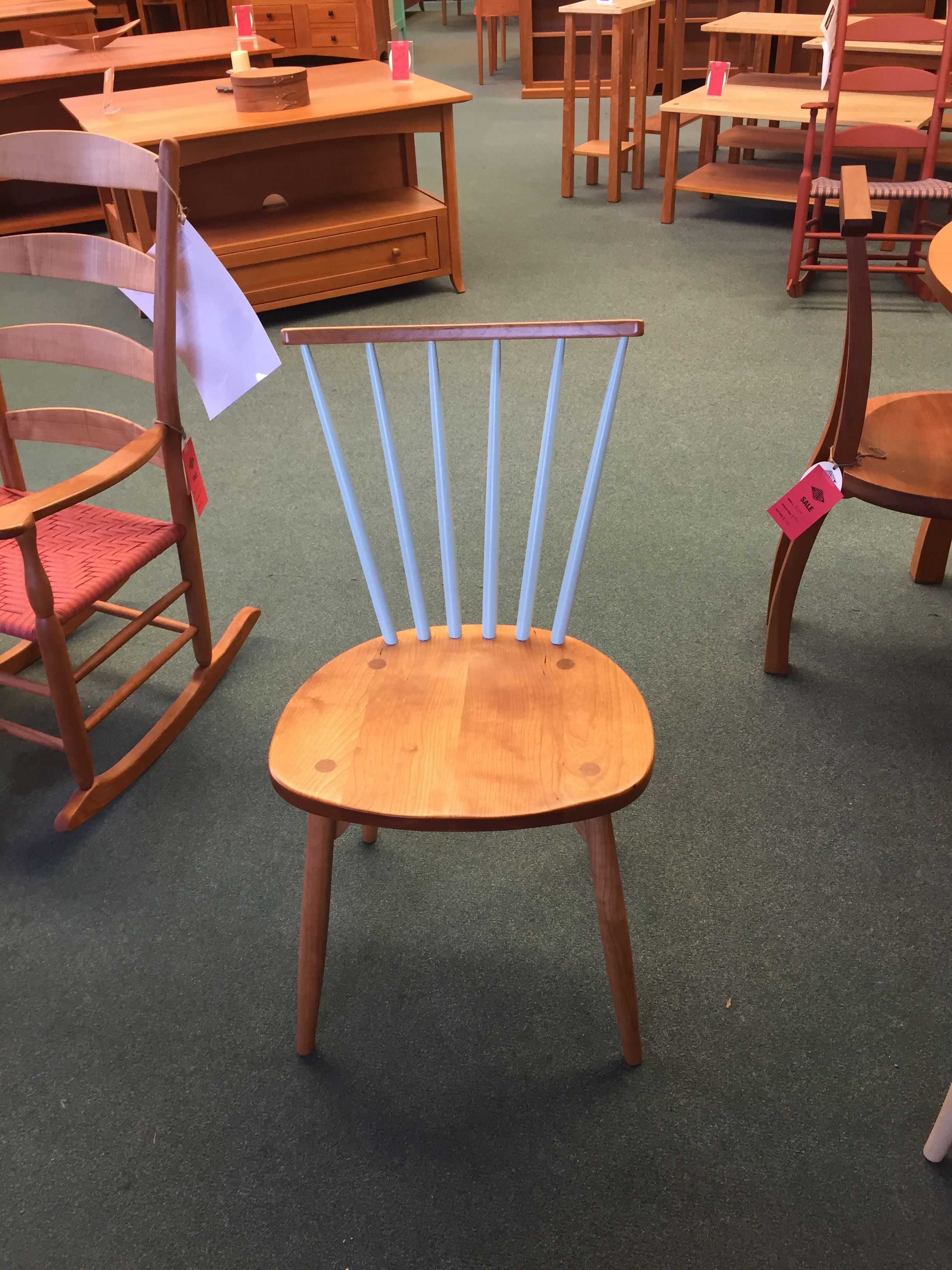 Prototype Of Modern Spindle Chair At Chilton Furniture Of Maine. I Love The  Top Half
