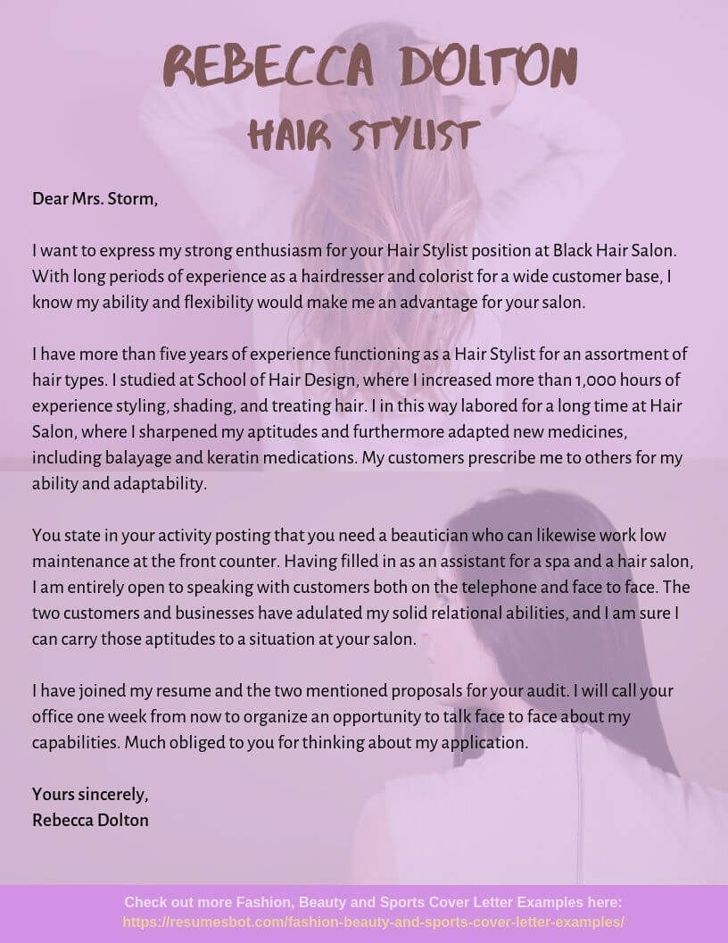 Hair Stylist Resume Cover Letter from i.pinimg.com