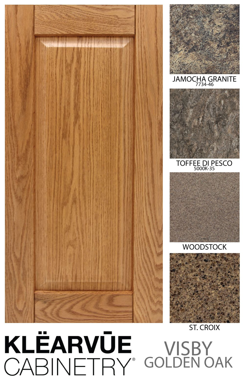 Midwest Manufacturing Has Countertops To Match Any Cabinets. Check Out Our  Matches To The Klearvue Cabinetry Visby Golden Oak Cabinets.