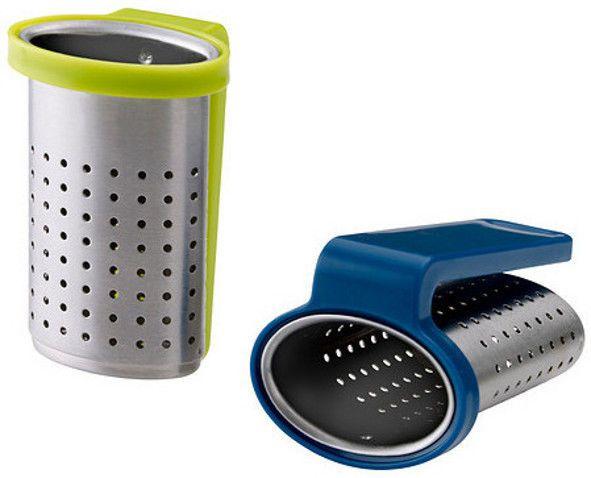 IKEA SAKKUNNIG stainless steel 2 Basket tea infuser strainer hang mug glass cup