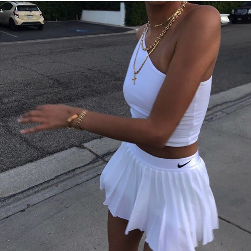 Frankie Collective Vintage On Instagram Oliviapezzente Appreciation Post Wcw Tennis Skirt Outfit Fashion Inspo Outfits Aesthetic Clothes