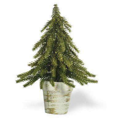 Fir Desktop Cedar Tree In Pot Potted Trees Front Entryway Decor Fake Plants Decor