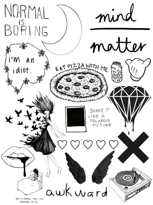 We Heart It Aesthetic Stickers Black And White Stickers Black Stickers