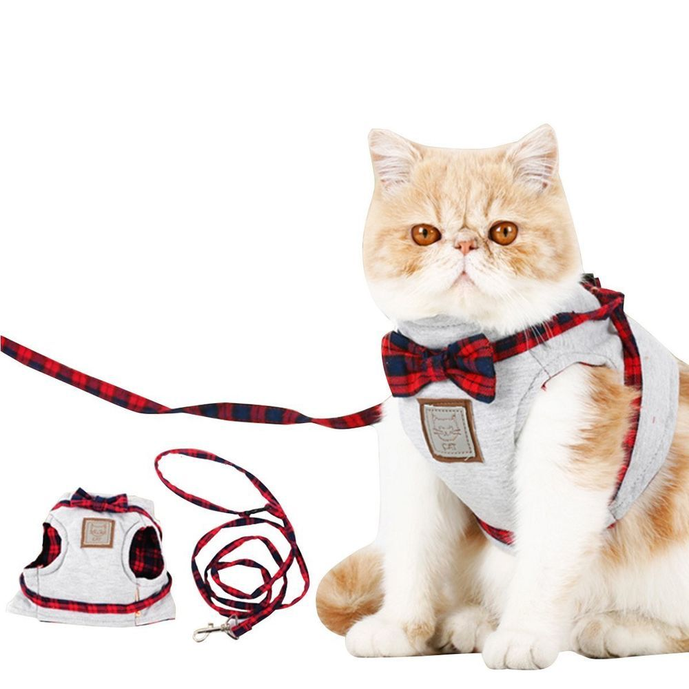 Cats Vest Leash Set Adjule Soft Harness Jacket For Safety Walking Hot