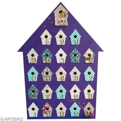 original calendrier de l avent violet id es conseils et. Black Bedroom Furniture Sets. Home Design Ideas