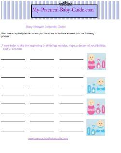 Free Printable Baby Shower Games My Practical Baby Shower Guide In