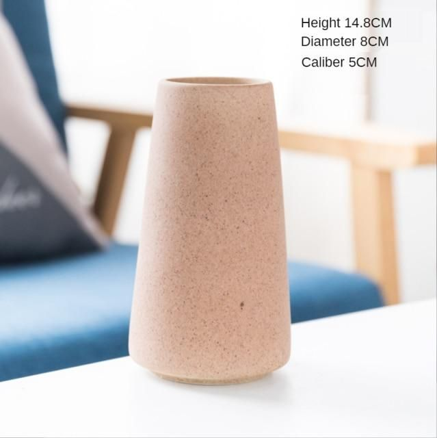 Simple Retro Frosted Ceramic Vase – A