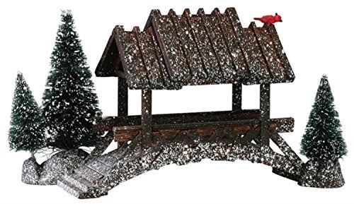 Lemax Christmas Village Wooden Bridge with Trees Landscape Accessory 14618 -- You can get more details by clicking on the image.
