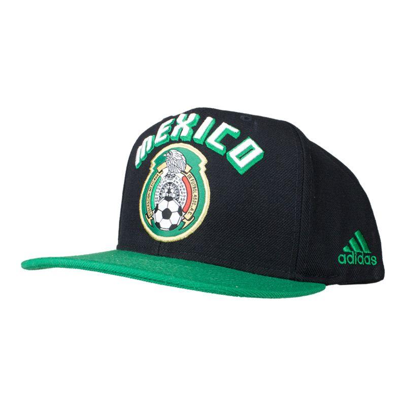 adidas Mexico Soccer Snapback - Black Mexico National Team a005902ec6ce