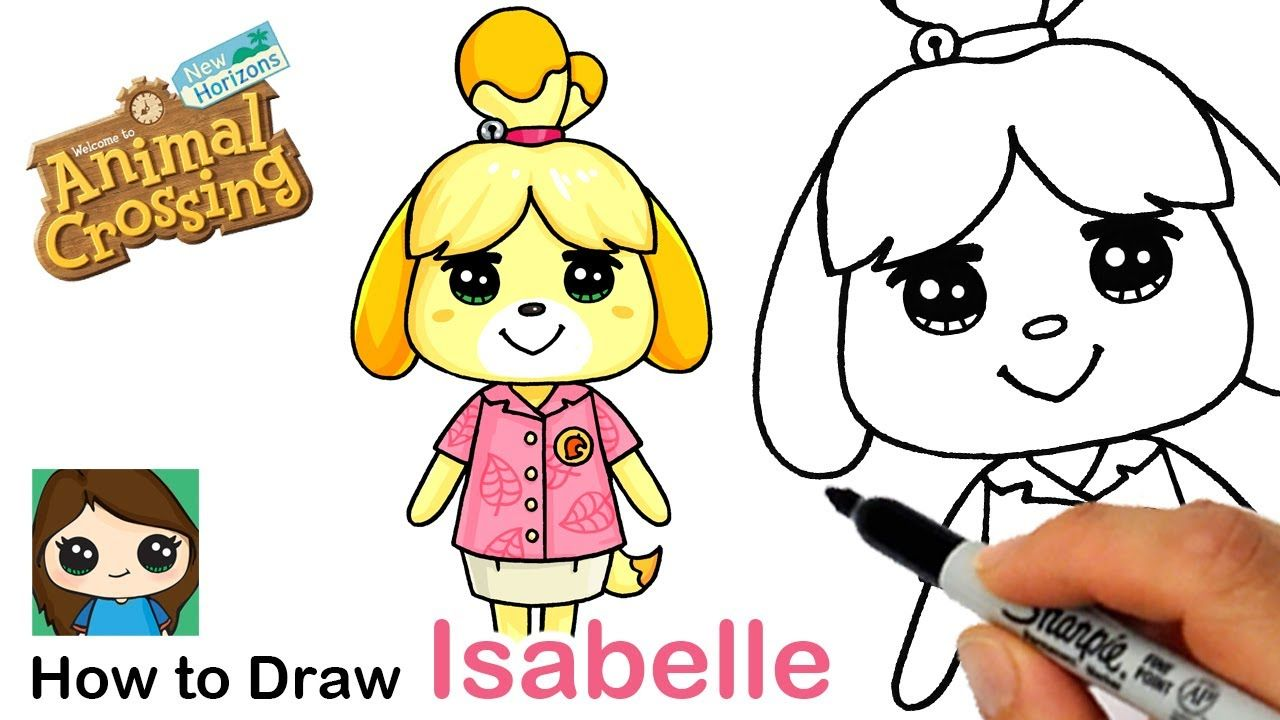 How to Draw Isabelle the Dog   Animal Crossing - YouTube ...