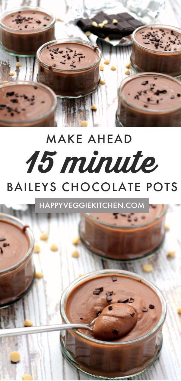Easy Baileys Chocolate Dessert Pots | Recipe | Boozy ...