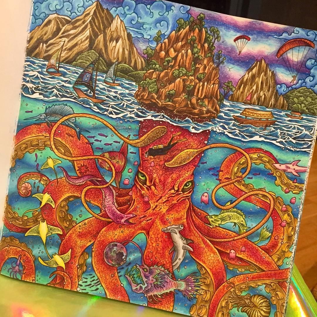 Completed Artwork Coloring Book Art Colorful Drawings Coloring Books