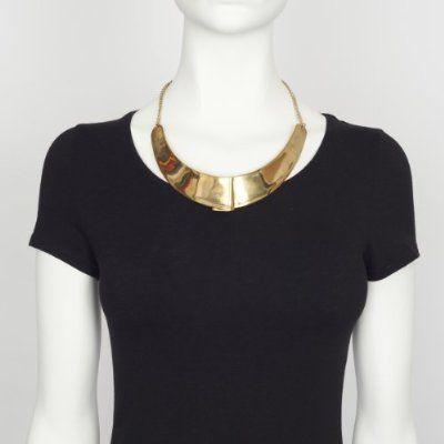 Gold Pleat Collar