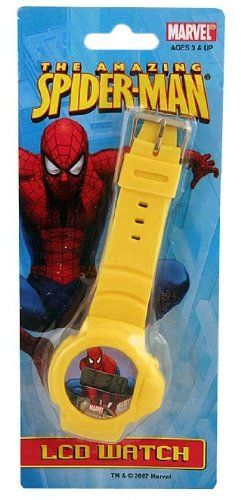 Spiderman lcd watch yellow watches for sale watch sale cart toys for Spiderman watches