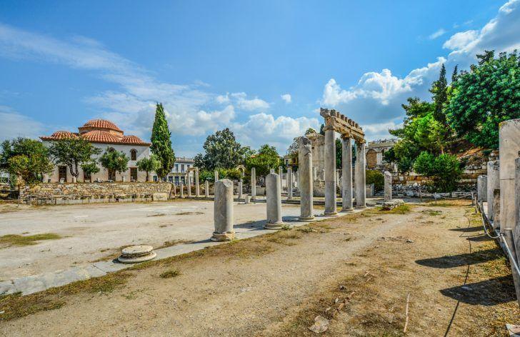 Agora D Athenes En Grece Travel Athens Greece Greece