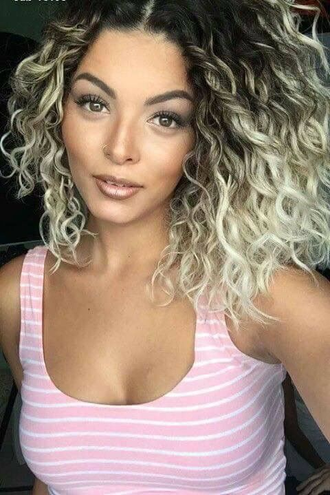 Too Blonde Want More Balayage Curly Hair Styles Naturally Ombre Curly Hair Hair Styles