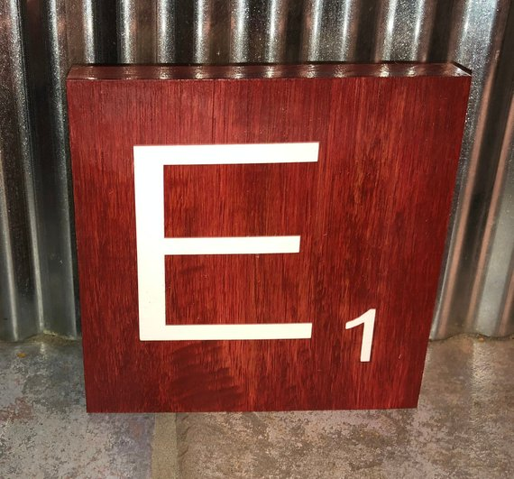 Barn Red Stained 4 In X Scrabble Tiles