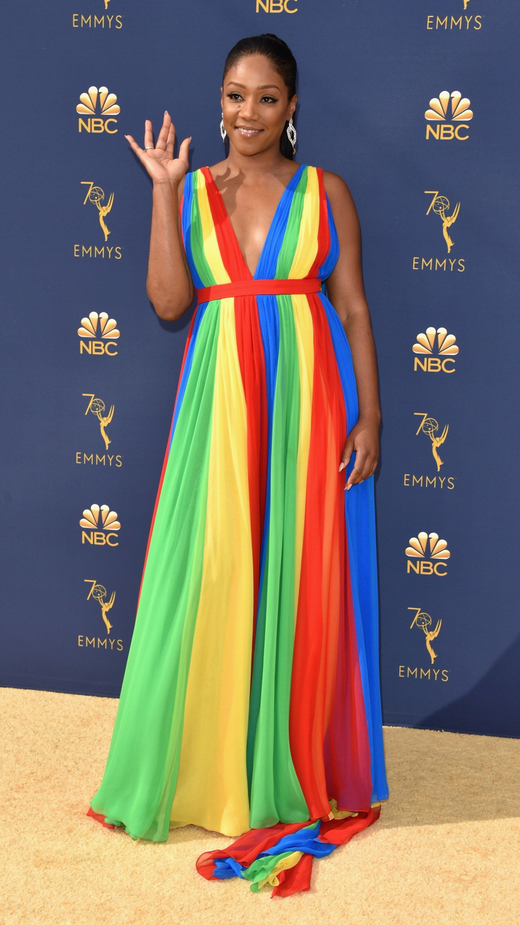 Tiffany Haddish's Colorful Dress for the Emmy Awards Has a