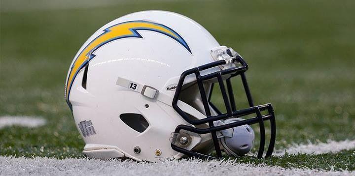dfa4ce36543 San Diego Chargers helmet.