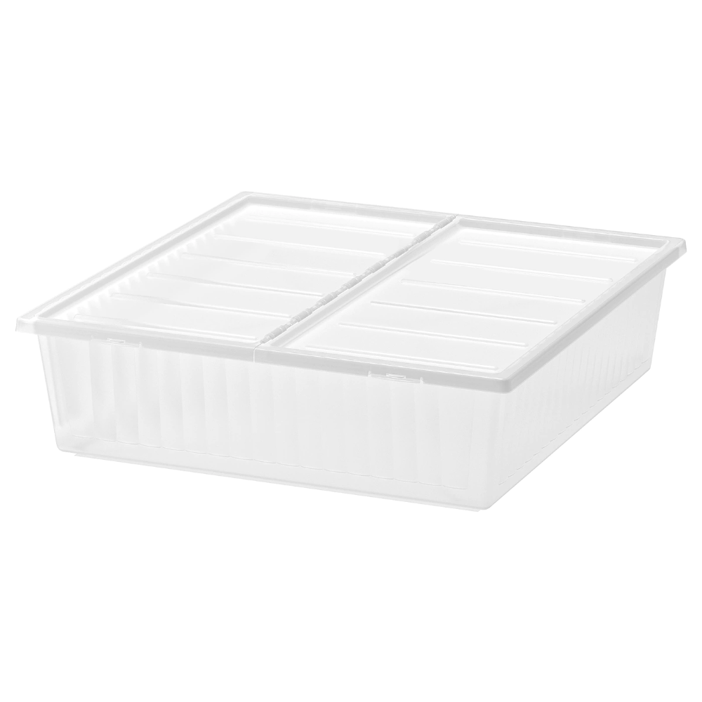 Ikea Gimse Underbed Storage Box White Turns The Space Under