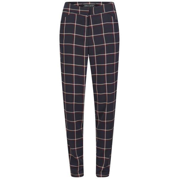 Black Check Pants For Ladies
