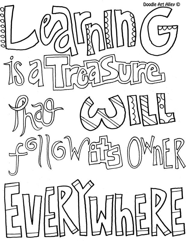 - Learning Quote Coloring Pages - Doodle Art Alley Quote Coloring Pages,  Bible Verse Coloring Page, Bible Verse Coloring