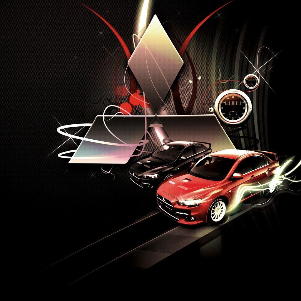 Mitsubishi Lancer Evo Wallpaper Hd: Mitsubishi Lancer Evolution Logo IPad Wallpaper. #iPad