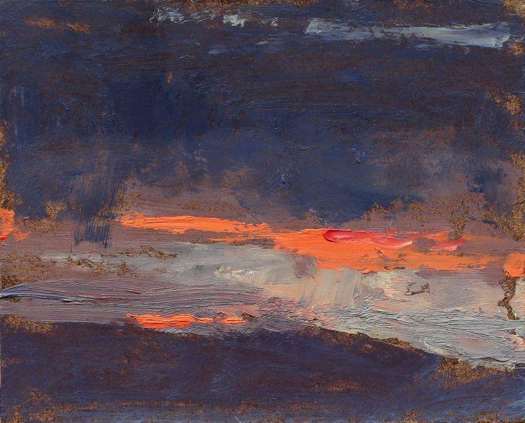 "John David Wissler ...Cadmium  5"" x 6""  oil on panel"