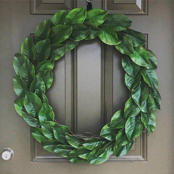 Photo of Magnolia Wreath – Spring Wreath – Home Decor – Door Decor – Magnolia Decor – Farmhouse Decor – Classic Wreath – Farmhouse Wreath
