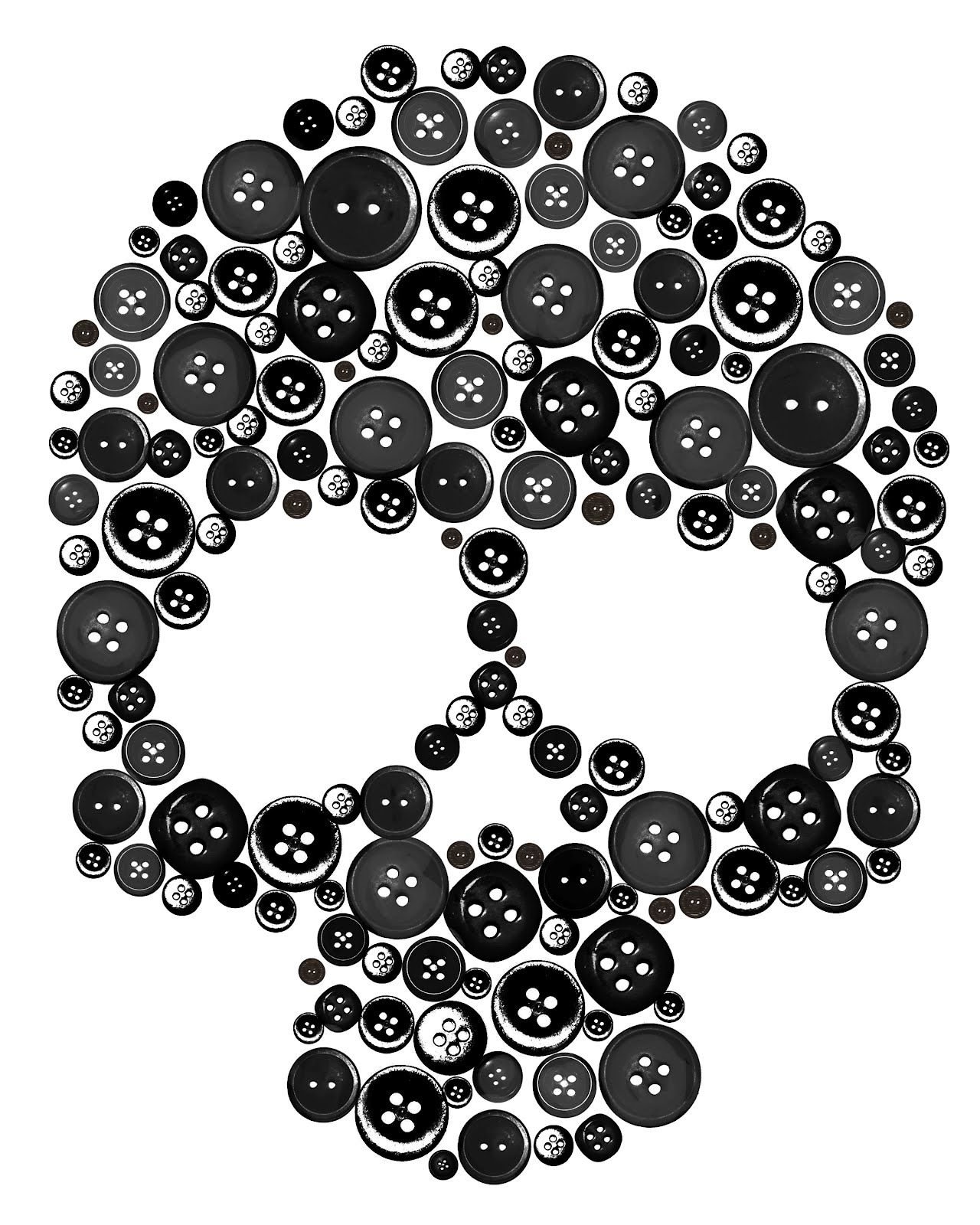 Skull buttons need to do this on a pillow or a purse for Halloween zimmerdeko