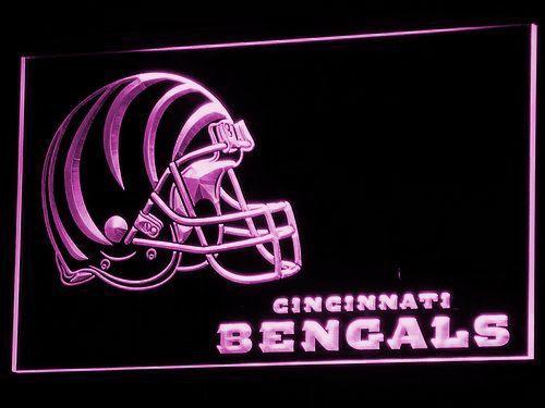 Cincinnati Bengals Helmet LED Neon Sign