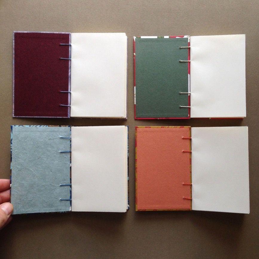 Inside Of Coptic Stitched Notebooks By Fineberg Art Studio