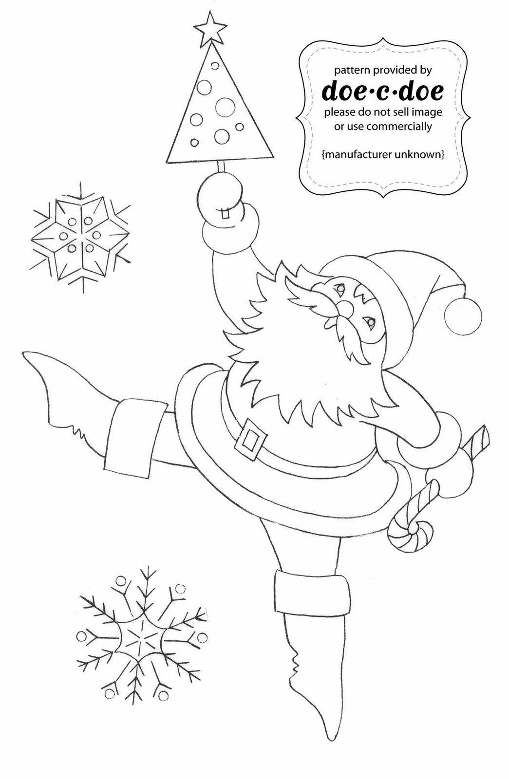 Christmas Santa embroidery | Redwork | Pinterest | Patrones, Bordado ...