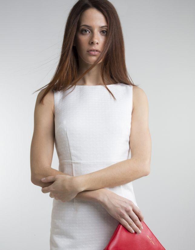 a1c070377 Vestido de mujer escote redondo blanco