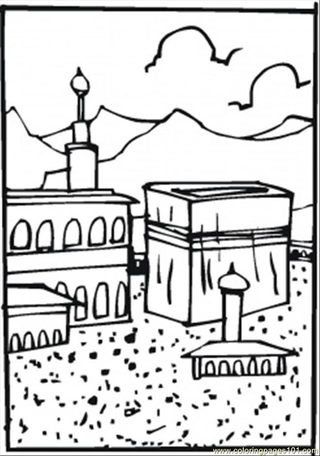 Hajj Coloring page