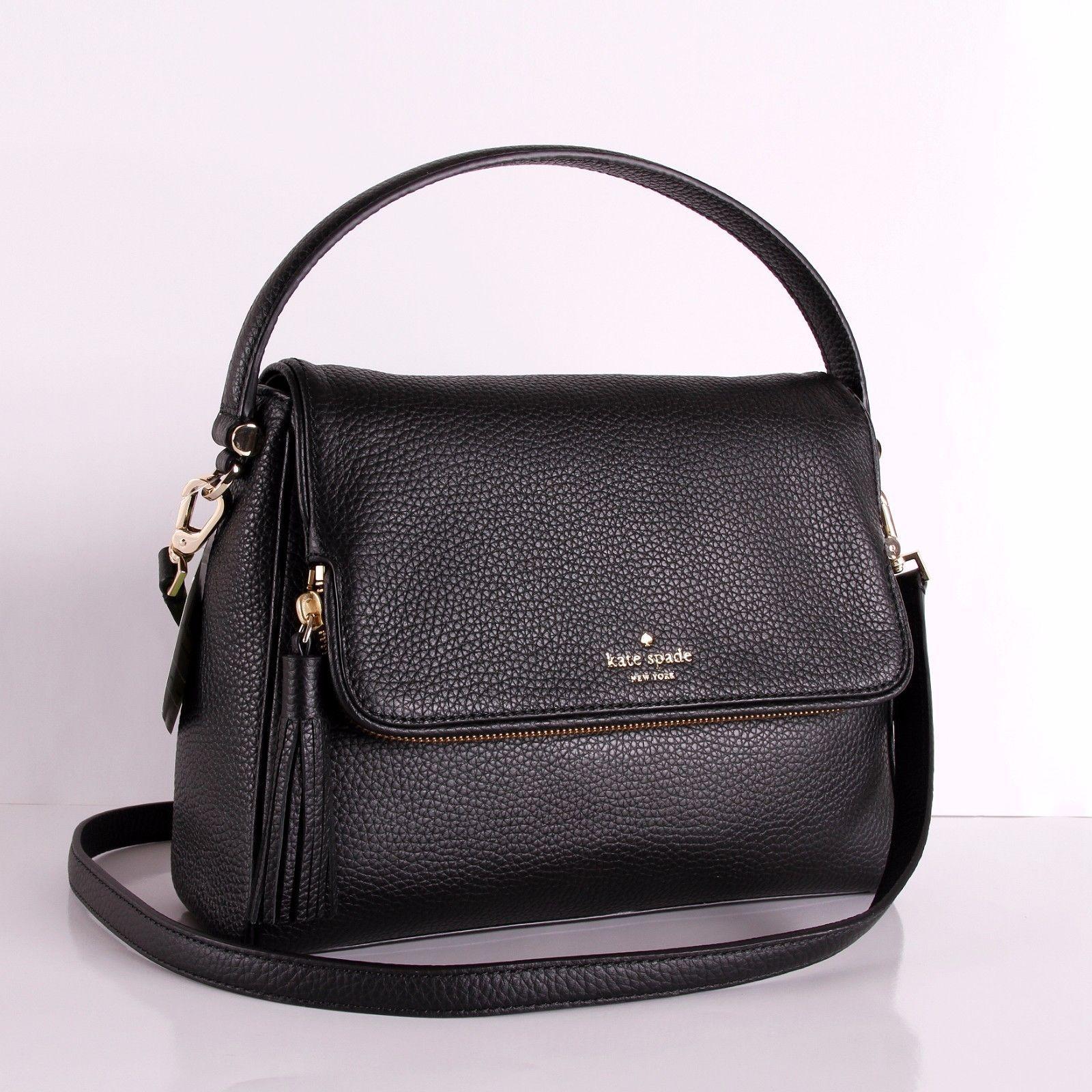 NWT Kate Spade Miri Chester Street Black Leather Bag Handbag Crossbody WKRU4076