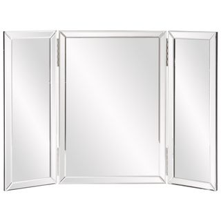 The Trifold Vanity Mirror Features A Gorgeous Frame Decorated With Finish This Unique Also Offers Three Piece Design That Is Sure To Add