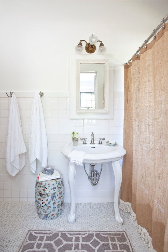 Chinese Garden Stool Bathroom Traditional With Antique Light